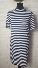 CHEAP MONDAY HIGH NECK SWING DRESS IN STRIPE - BLACK/WHITE size XXS