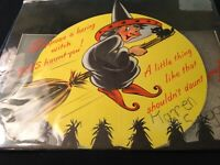 #H20🌟Vintage 1952 POP-Up Halloween Children's Greeting Card Witch On Broomstick