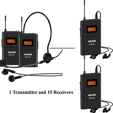 Anleon 915MHZ MTG-100 wireless tour guide language interpretation 15 Receivers