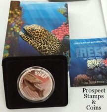 2010 Australian Sea Life Series Moray Eel 1/2oz Silver Proof Coin