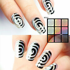 9 Tips/Sheet Growth Ring Nail Vinyls Nail Art Manicure Stencil Stickers NF212
