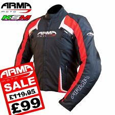 *SALE* ARMR MOTO EYOSHI RED WATERPROOF TEXTILE MOTORCYCLE JACKET XXL *SALE*