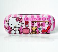 New Cute For Hello Kitty&bear Hard Glasses Eyeglass Case Holder Box Kids Gift
