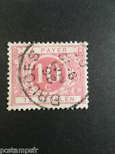 BELGIQUE 1895, timbre CLASSIQUE TAXE 5a, CHIFFRE, oblitéré, TAX, VF stamp