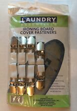 Ironing Board Covver Fastners New Laundry Essentials White/ Silver Clasp