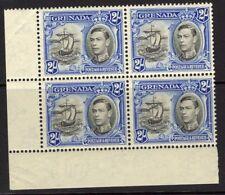 GRENADA SG161a 1941 2/- BLACK & ULTRAMARINE p13½x12½ MNH BLOCK OF 4