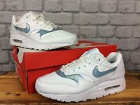 NIKE LADIES UK 5.5 EU 38.5 WHITE ICE BLUE AIR MAX 1 TRAINERS CHILDRENS LADIES LG
