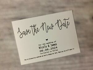 Personalised Wedding Change of Date Save The Date New Date Evening Magnet H21a7c