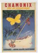 CP AFFICHE CHAMONIX Ski de printemps Edit CLOUET 10309