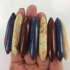 Genuine Picture Jasper, Dumortierite & Red Jasper Stretch Bracelet 5.5 Inch