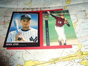 2 DEREK JETER BASEBALL CARDS CLASSIC # 231 PINNACLE #457 DRAFT PICK CARDS