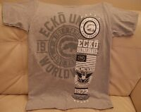 NEW ECKO UNLIMITED YOUNG MEN'S T-SHIRT SIZE SMALL GRAY WHITE RHINO