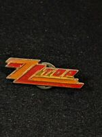 Vintage 80's ZZ Top Band Pin Rock & Roll Orange Red 11661