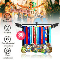 Sport Medal 32 Medals Hanger Wing Metal Display Iron Rack Hook Holder Decor -