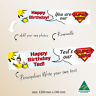 Personalised Superhero Happy Birthday Canvas Party Banner Decorations Supplies