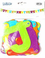 Boland 43201 - Banderole bannier guirlande Joyeux Anniversaire, Multicolor 200cm