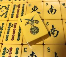 RARE Mahjong Hawk Bam Set Chinese Bakelite 152 Tiles Complete - Handsome Set!
