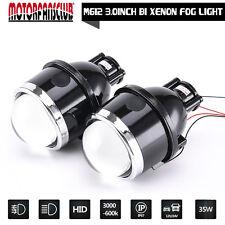 "3.0"" Waterproof Bi-xenon Fog lights Projector Lens Driving Lamps Hi/Low For Car"