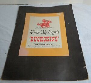 Frederick Remington's Buckskins: 5 Portraits of the Old West, Color Prints 1956