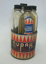 Vintage Nupak Handy Package Extract Bottles - C Foster Chemical Co