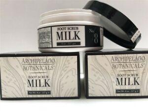 Lot of 2 Archipelago Botanicals Milk Foot Scrub 8.0 oz, Older Stocks, As Imaged