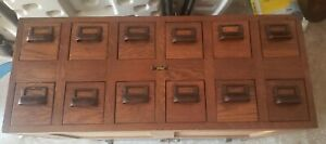 Globe Wernicke Letter File cabinet Table Top 12 DRAWER TREASURY DEPT POST OFFICE
