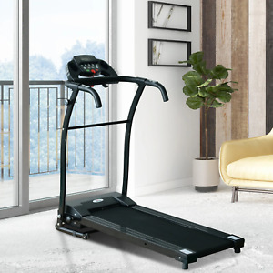 Motorized Electric Treadmill Folding LCD Display 1-10 km/h Home Fitness Training