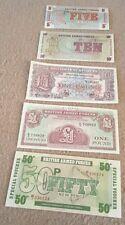 Bulk Lot 5 UK Britsh Military Script Mint Notes Collection