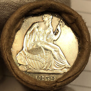 $10 SILVER HALF DOLLAR ROLL NICE UNC WALKING LIBERTY & SEATED LIBERTY ENDERS