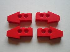 Lego 4 briques pointes rouges set 8856 5935 8422 8232 / Technic Slope Long
