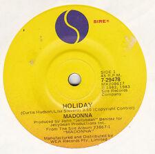 MADONNA - HOLIDAY - ORIG OZ 45RPM - SMASH HIT