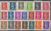 Stamp Croatia Sc 61-80 1943 WWII War Era Germany Occupation Pavelic Set MNH