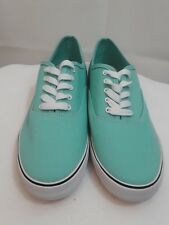 Mossimo Women's Size 11 aqua Layla Canvas Lace Up Sneaker Shoes as is