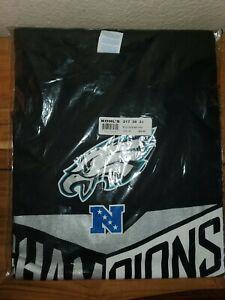 Philadelphia Eagles NFC Champions black  T-shirt USPS.