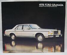1978 FORD GRANADA AUTOMOBILE CAR ADVERTISING SALES BROCHURE VINTAGE AUGUST 1977