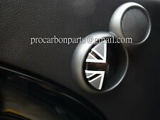 Aluminum Door Emblem~ Black Union Jack MINI Cooper S for R50 R52 R53 JCW
