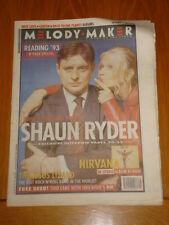 MELODY MAKER 1993 SEP 4 SHAUN RYDER MONDAYS NIRVANA