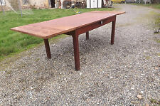 Table de Ferme chène et pin , 2 rallonges