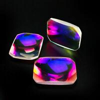 4pcs K9 Optical Glass Prism Science Physics Research Lens Color Film Home Decor