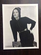 "Gloria Swanson Hoodie Original Studio Photo Still Vintage B/W 14x11""  Rare Size"