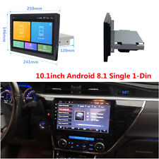 "1Din Android 8.1 10.1"" Quad-Core HD Car Stereo Radio GPS Wifi Mirror Link Player"