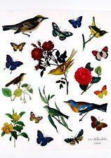 """Stick*A*Bilities BIRD BUTTERFLY & FLOWER STICKERS SEALS 5""""x4 1/4"""" Sheet  #5F"""