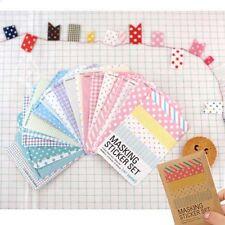 Washi Masking Stickers Tape Craft Tin Set Scrapbooking Labelling Diary Deco Gift