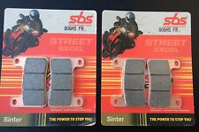 2x sbs 806HS - Pastillas Freno KAWASAKI zx-10r, zx10r, 2008 brake pads , Sinter