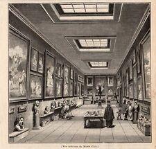 AIX EN PROVENCE VUE INTERIEURE DU MUSEE IMAGE 1844 MUSEUM OLD PRINT