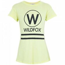 Wildfox Couture Yacht Club Logo Giallo Tee Top S 10 6 38 £ 75!