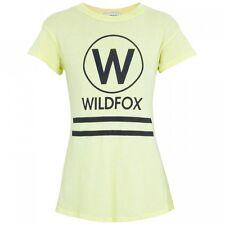 Wildfox Couture Yacht Club Amarillo logotipo Camiseta Top M 12 8 40 £ 75!