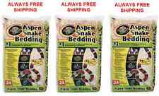Zoo Med Aspen Snake Bedding - 24 Quart - 3 Pack