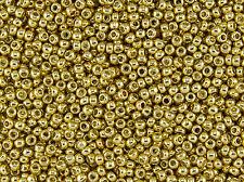 15/0 Japanese Toho Seed Beads PermaFinish Gold Galvanized #PF557