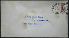 Cover - True 3 Cent Bisect to 1 1/2 Ct 3rd Class Mail rate - Chase Va S28